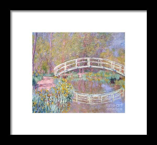 Monet Framed Print featuring the painting Bridge in Monet's Garden by Claude Monet