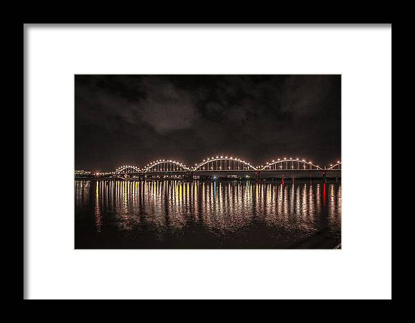 Mississippi Framed Print featuring the photograph Bridge Lights by Ray Congrove