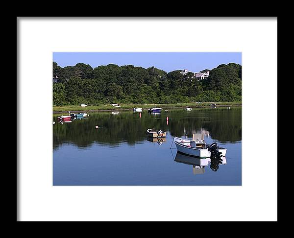 Cape Cod Framed Print featuring the photograph Bridge St Boats by David DeCenzo