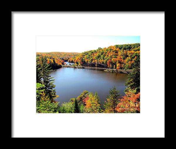 Fall Framed Print featuring the photograph Old Bridge, New Bridge by Jaunine Roberts