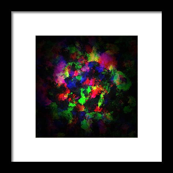 Paint Framed Print featuring the digital art Bright Colors Of Paint by Phil Perkins