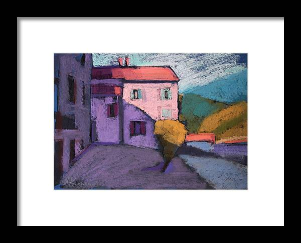 France Framed Print featuring the painting Bright Evening by Alena Kogan