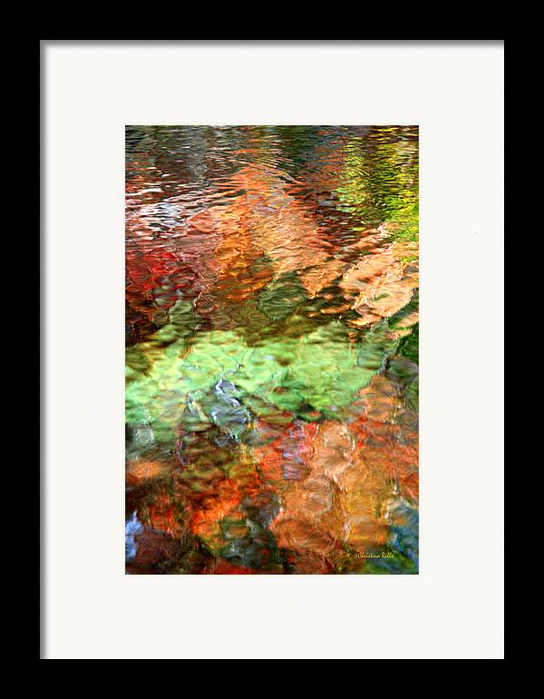 Abstract Water Framed Print featuring the photograph Brilliance by Christina Rollo