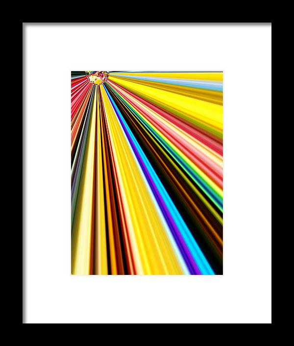 Abstract Framed Print featuring the digital art Brilliant by CJ Grant