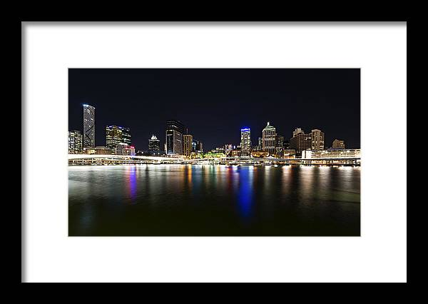 Nightscape Framed Print featuring the photograph Brisbane Cbd by Dr K X Xhori
