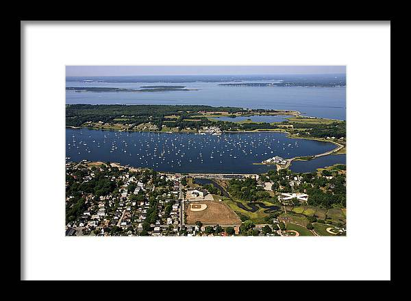 America Framed Print featuring the photograph Bristol, Rhode Island by Dave Cleaveland