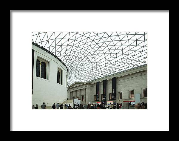 British Museum Framed Print featuring the photograph British Museum - The Entrance by Andi Murphy