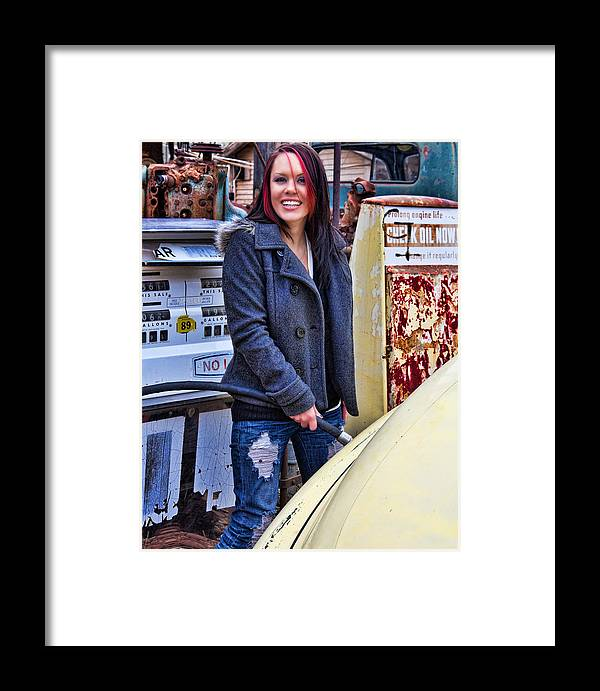 Model Framed Print featuring the photograph Brittani 2 by Joel Gilgoff
