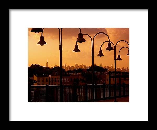 Iphone Cover Cases Framed Print featuring the photograph Broadway Junction In Brooklyn, New York by Monique's Fine Art
