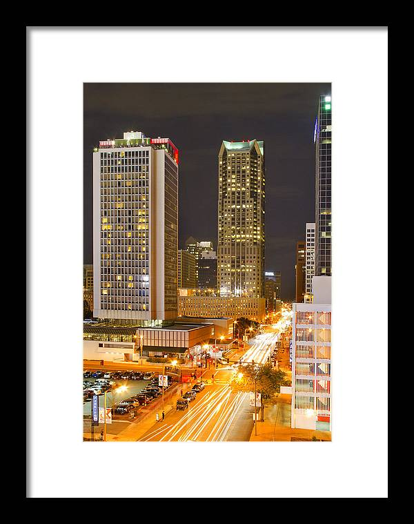St Louis Framed Print featuring the photograph Broadway St Louis by Garry McMichael