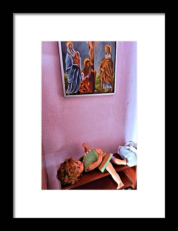 Doll Framed Print featuring the photograph Broken Doll by ITI Ion Vincent Danu