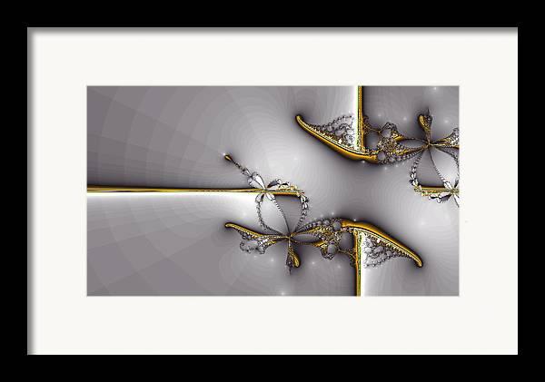 Framed Print featuring the digital art Broken Jewelry-fractal Art by Lourry Legarde