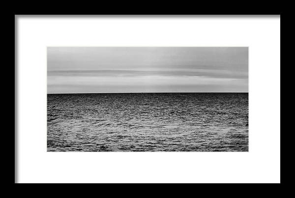 Lake Michigan Framed Print featuring the photograph Brooding Sky Over Lake Michigan by Hans Kaiser