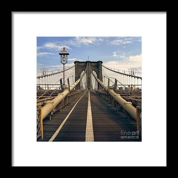 Brooklyn Framed Print featuring the photograph Brooklyn Bridge by Istvan Kadar
