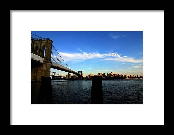 Framed Print featuring the photograph Brooklyn Bridge by Mithun Das