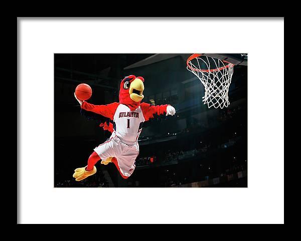 Atlanta Framed Print featuring the photograph Brooklyn Nets V Atlanta Hawks by Kevin C. Cox