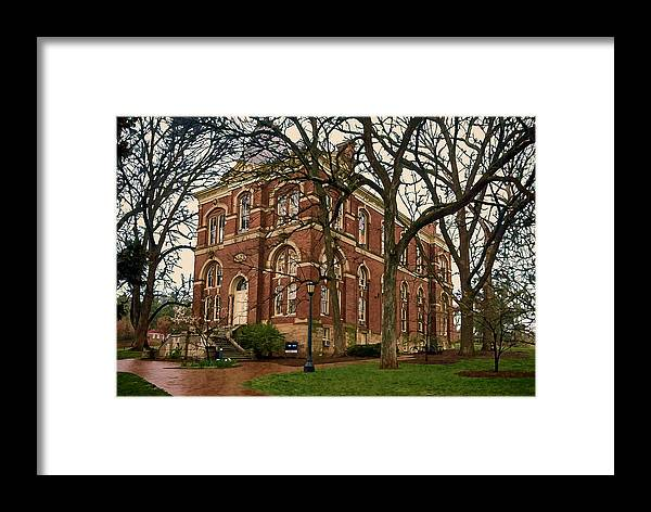 Uva Framed Print featuring the photograph Brooks Hall At University Of Virginia by Jerry Gammon