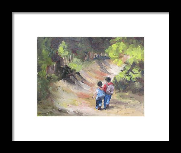 Brother Framed Print featuring the painting Brotherly Love by Susan Richardson