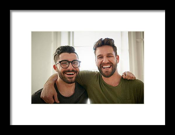 New Business Framed Print featuring the photograph Brother's in business by Cecilie_Arcurs