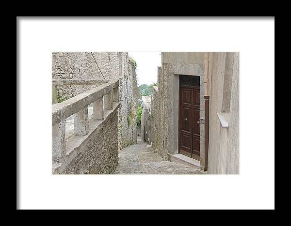 Eriche Framed Print featuring the photograph Brown Doors by Christine Rivers