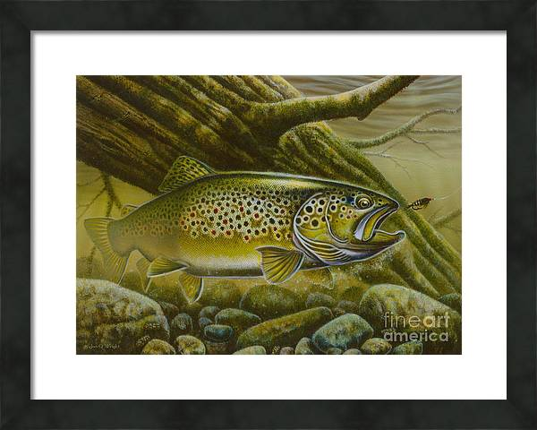 Brown Trout Log by JQ Licensing