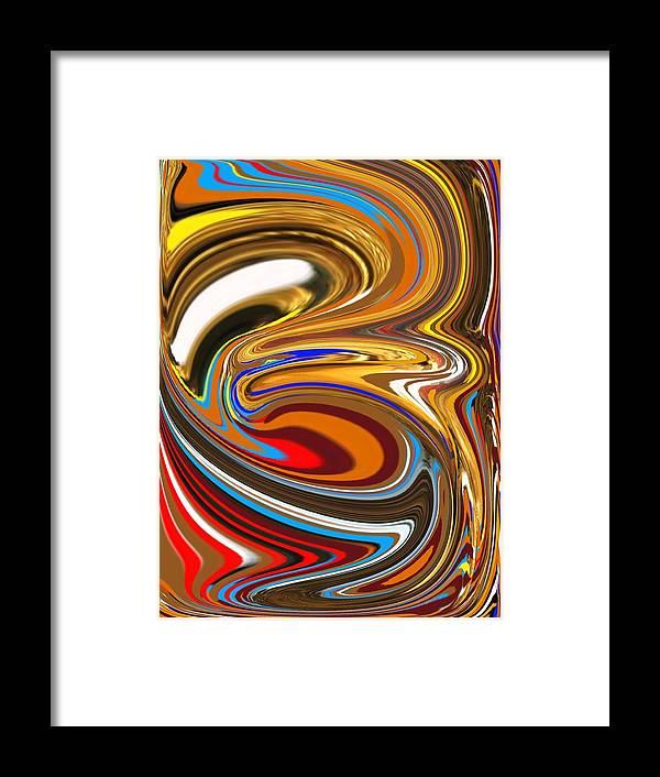 Framed Print featuring the digital art Brownbird by Bob Riggs