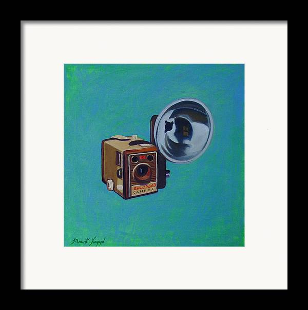 Vintage Framed Print featuring the painting Brownie Box Camera by The Vintage Painter