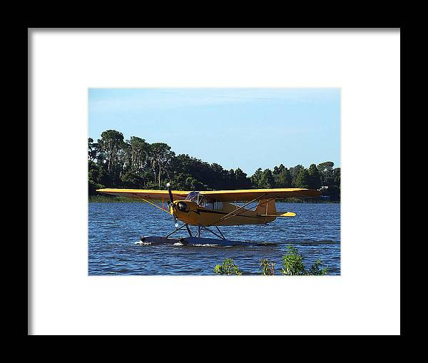 Airplane Framed Print featuring the photograph Brown's Piper Cub 005 by Chris Mercer