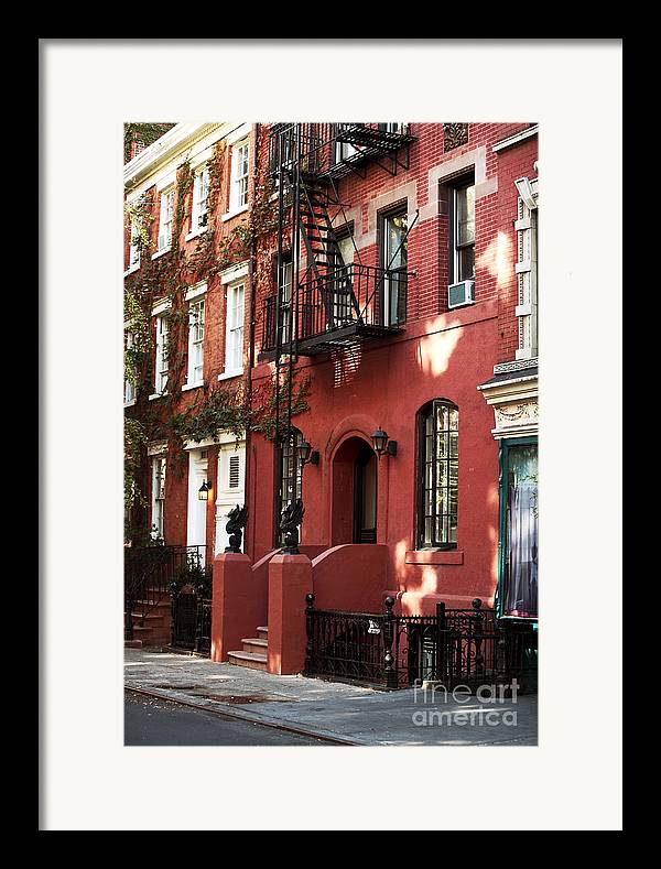 Building Framed Print featuring the photograph Brownstone by John Rizzuto