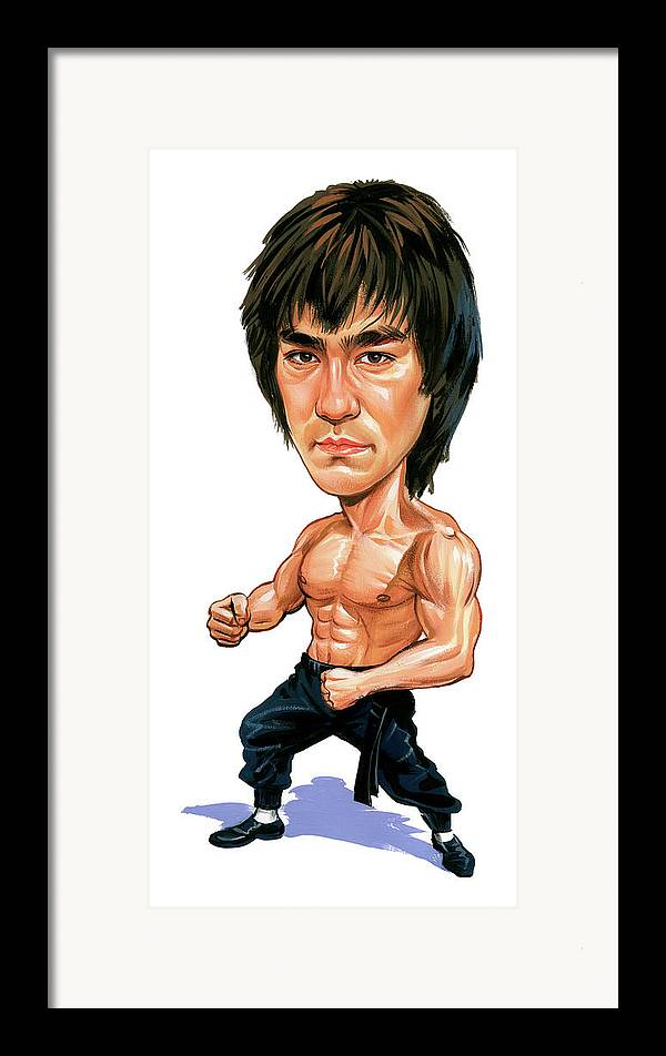 Bruce Lee Framed Print featuring the painting Bruce Lee by Art