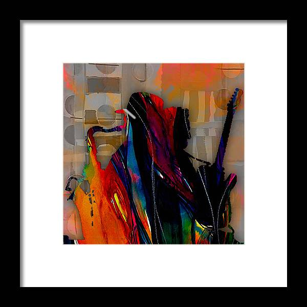 Bruce Springsteen Art Framed Print featuring the mixed media Bruce Springsteen Collection by Marvin Blaine