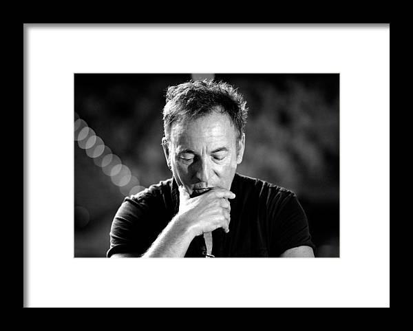 Bruce Springsteen Framed Print featuring the photograph Bruce Springsteen Media Call by Bradley Kanaris