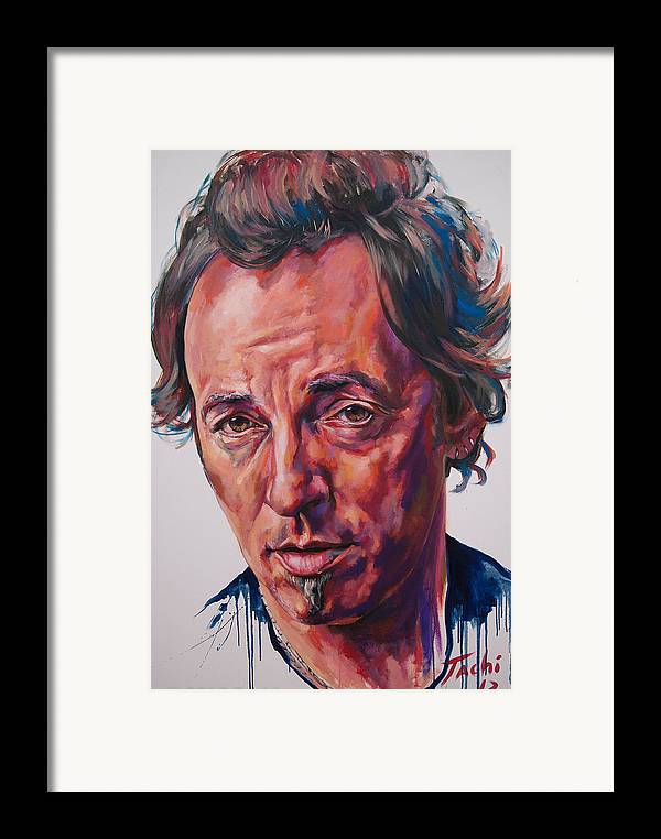 Bruce Framed Print featuring the painting Bruce by Tachi Pintor