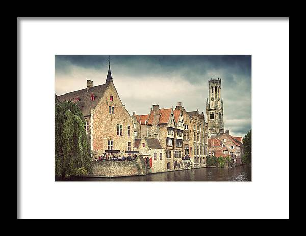 Tranquility Framed Print featuring the photograph Brugge by Ellen Van Bodegom