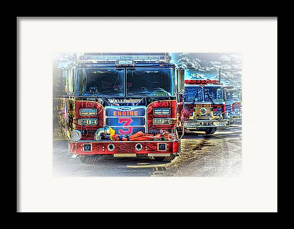 Fire Trucks Framed Print featuring the photograph Brute Strength by Arnie Goldstein