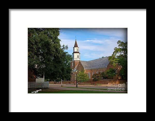 Church Framed Print featuring the photograph Bruton Parish Church by Aaron Shortt
