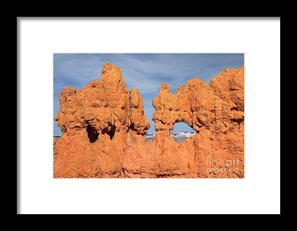 America Framed Print featuring the photograph Bryce Canyon Peephole by Karen Lee Ensley