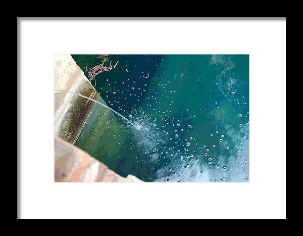 Digital Art Framed Print featuring the photograph Bubble Abstract by Suzanne Gaff