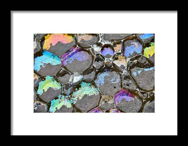 Framed Print featuring the photograph Bubble Pads by David Flitman