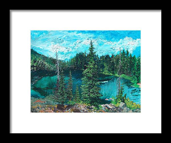 Buck Framed Print featuring the painting Buck Lake by Joseph Demaree