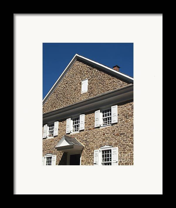 Quaker Meeting Framed Print featuring the photograph Buckingham Friends Meeting Side View by Anna Lisa Yoder