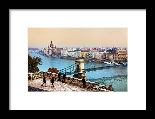 Hungarian Parliament Building Framed Print featuring the photograph Budapest - Hungarian Pastels by John And Tina Reid