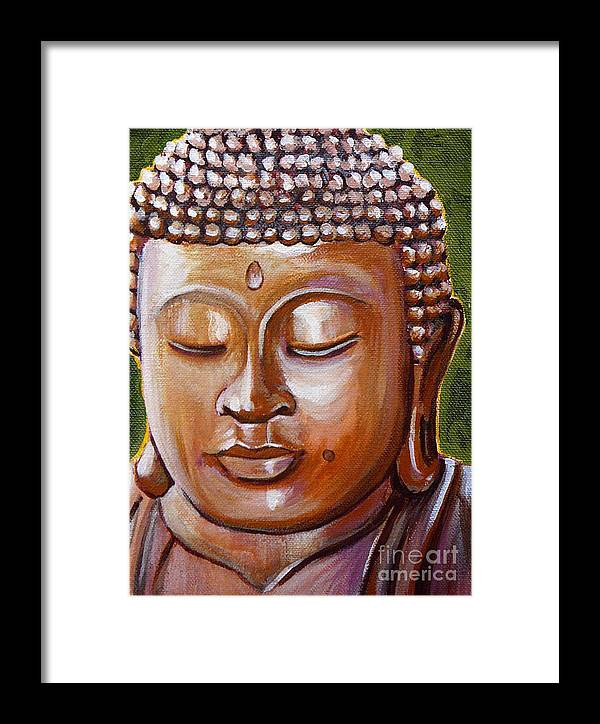 Buddha Framed Print featuring the painting Buddha 1 by Gayle Utter
