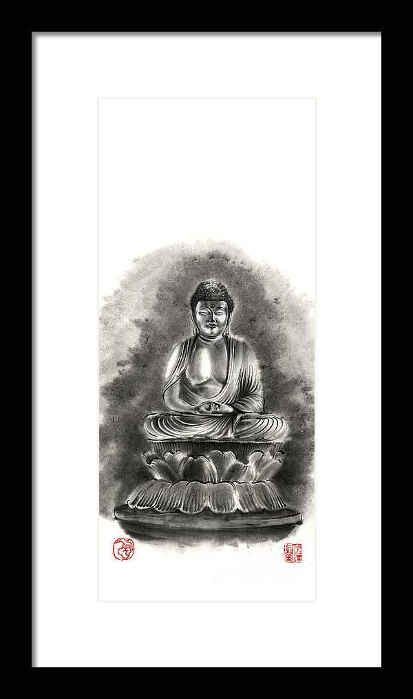 Buddha Buddhist Sumi-e Tibetan Calligraphy Original Ink Painting ...