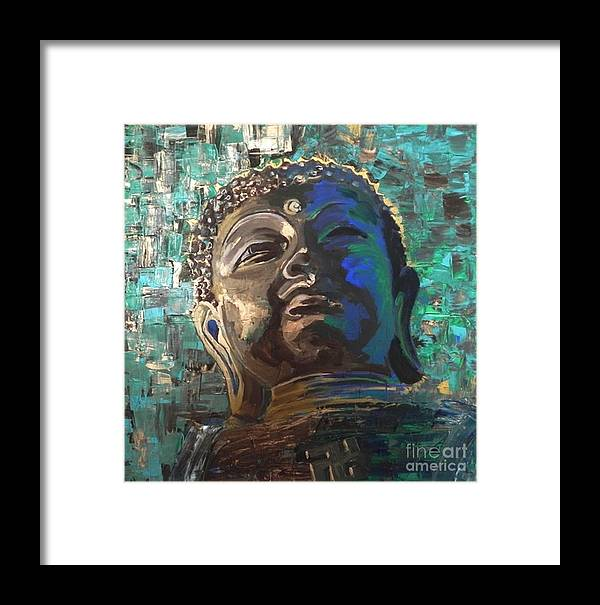 Buddha With Swastika Framed Print by Jolanta Shiloni