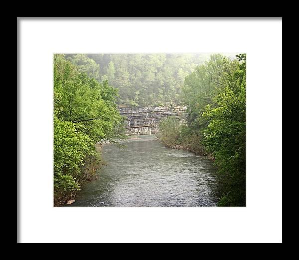 Buffalo National River Framed Print featuring the photograph Buffalo River Mist Horizontal by Marty Koch