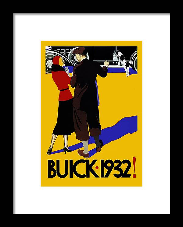 Buick Framed Print featuring the photograph Buick 1932 by Mark Rogan