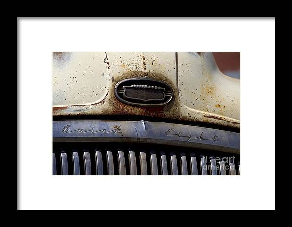 Car Framed Print featuring the photograph Buick Eight  #3829 by J L Woody Wooden