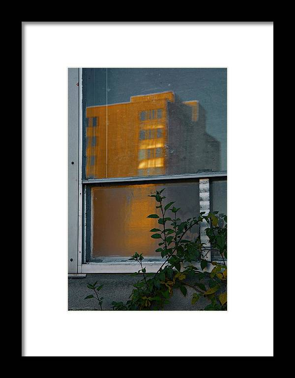 Building Framed Print featuring the photograph Building Reflected by Patricia Strand