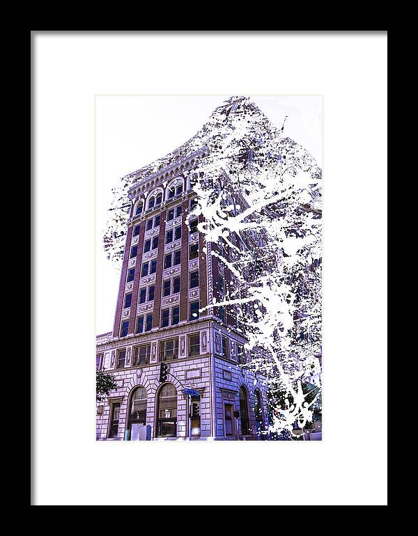 Framed Print featuring the photograph Building Splatter by Cj Avery